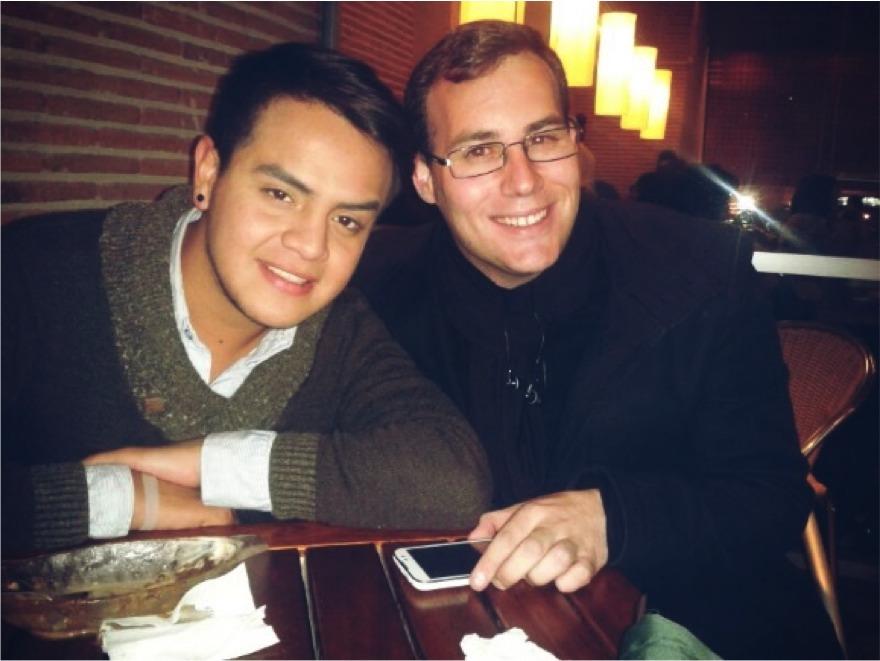 Enrique y un amigo